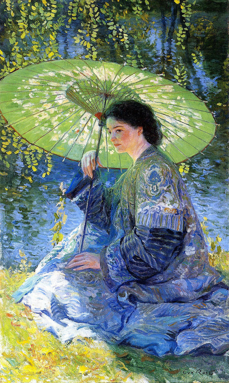The Green Parasol by Guy Orlando Rose, c. 1909