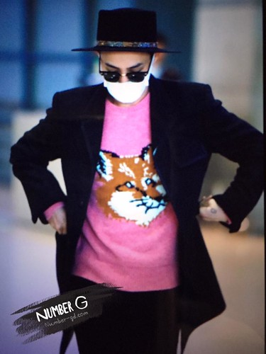 G-Dragon - Incheon Airport - 28jan2015 - Number G - 02