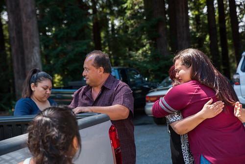 Families saying goodbye