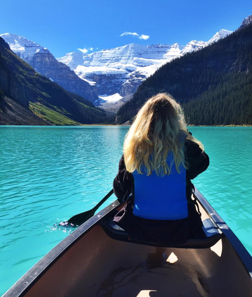 Kayaking on Lake Louise, Banff National Park