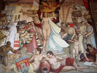 Зображення Bourse du Travail. france frankreich sudouest aquitaine gironde 33 bordeaux journéesdupatrimoine boursedutravail fresque