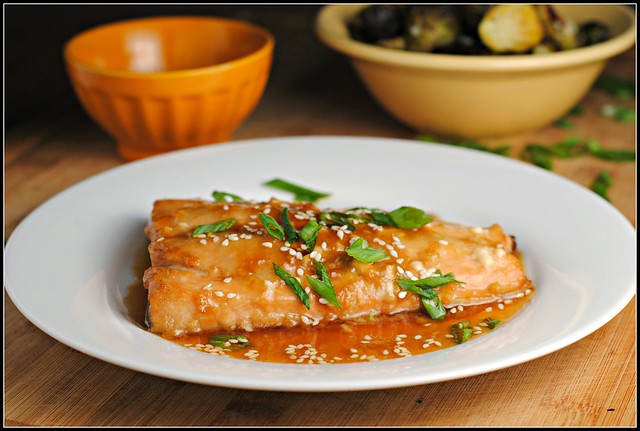 Toasted Sesame Ginger Salmon Prevention RD