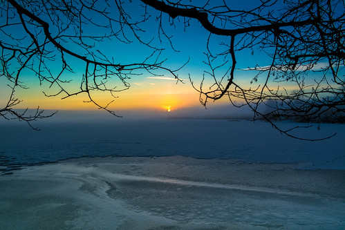 winter sunset mist lake snow color tree ice nature oslo norway fog branches samsung nightfall maridalsvannet nx210