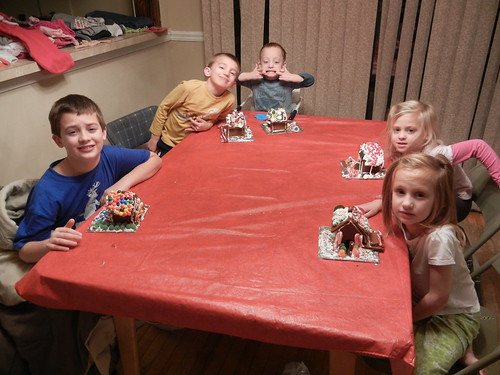 Jan 6 2013 Breaking Gingerbread Houses