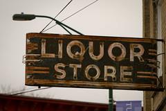 Old Neon Liquor Store Sign