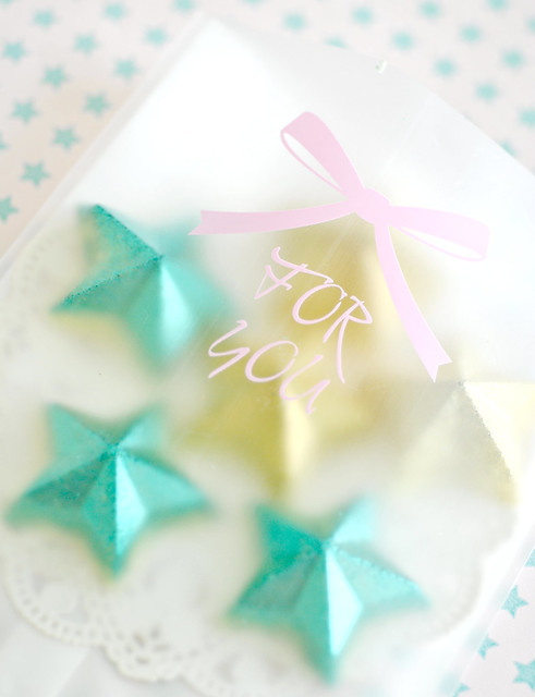 Packaged glitter stars
