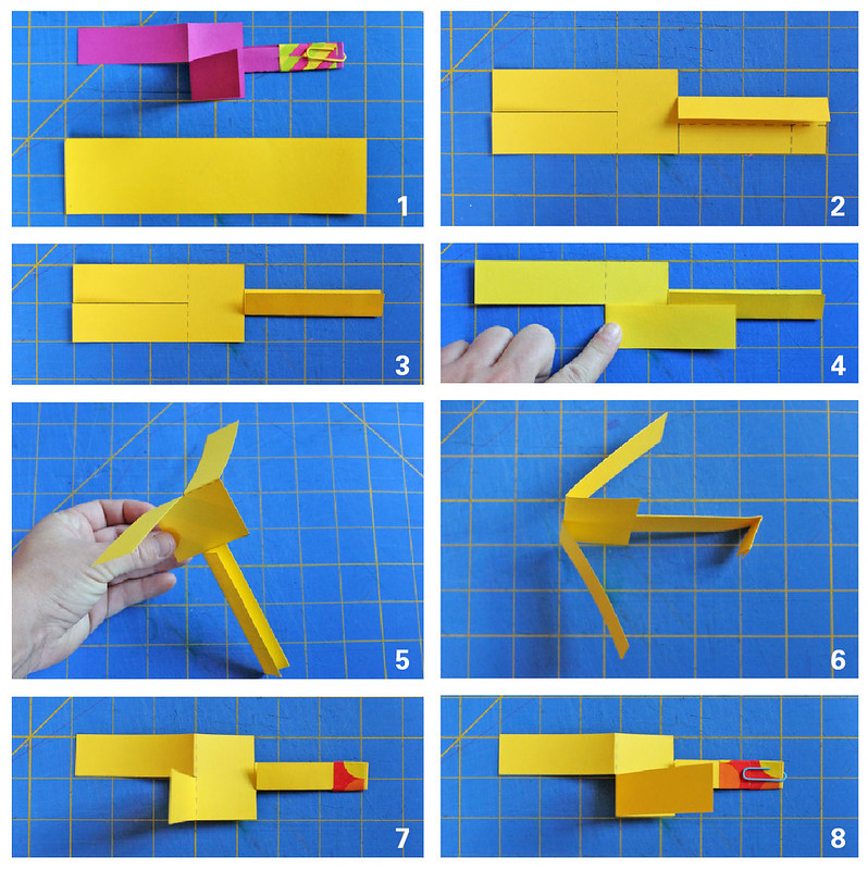 Learn how to make paper helicopters with this step-by-step tutorial.
