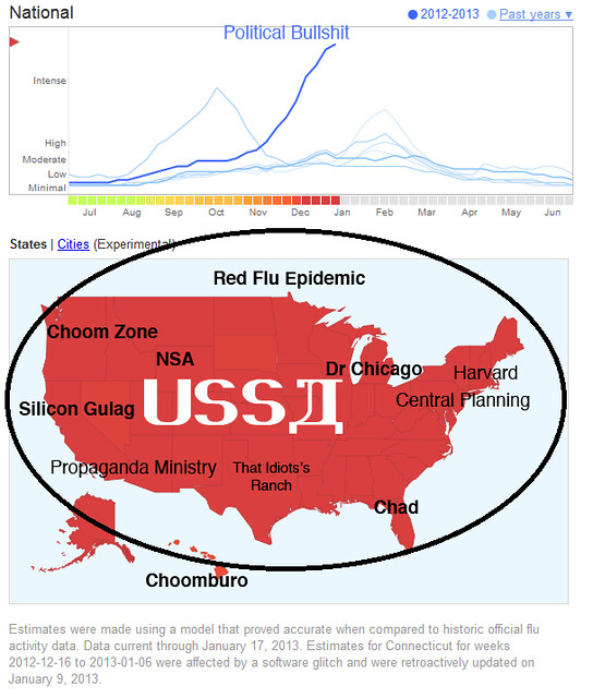 RED FLU MAP