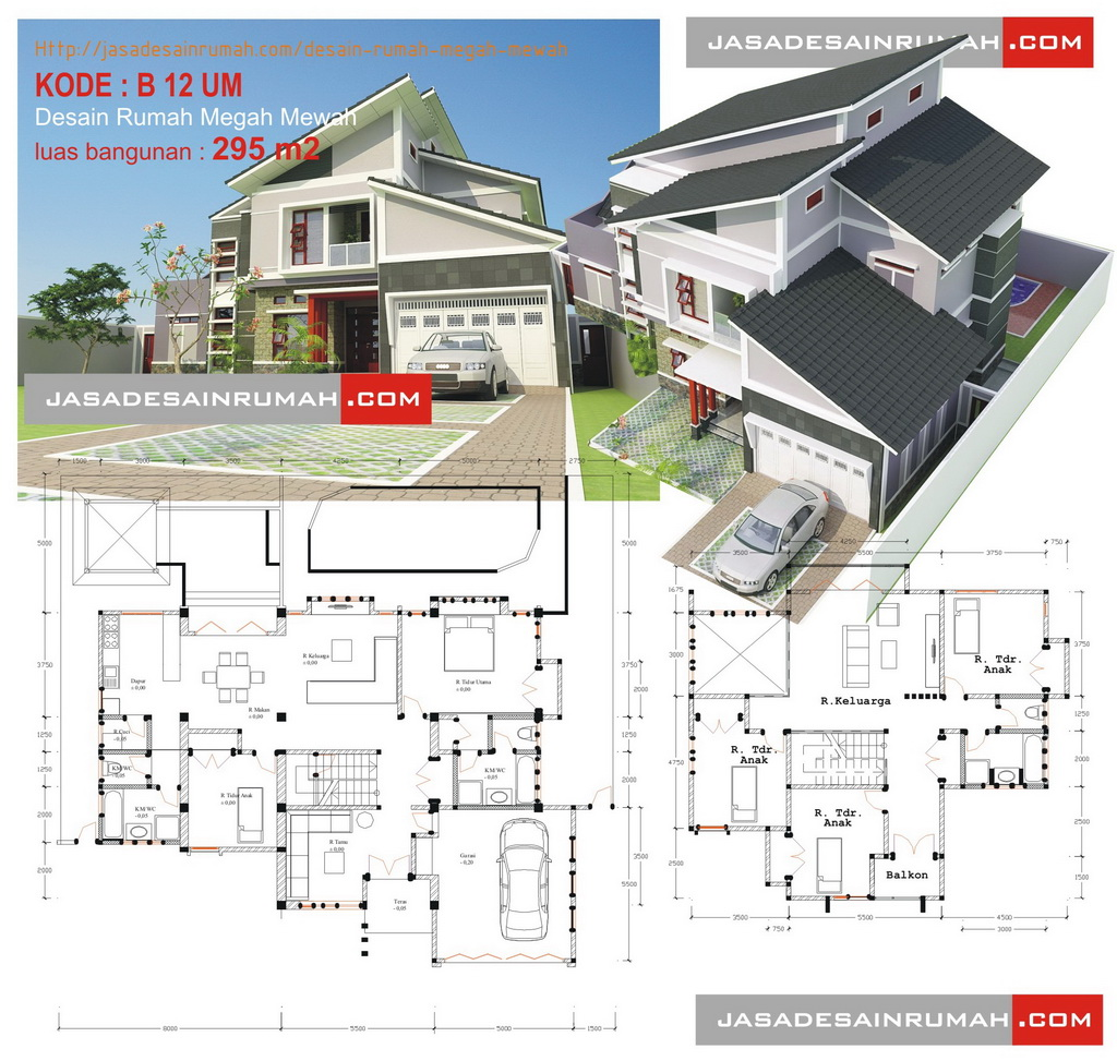Desain Rumah Megah Mewah Jasa Serupa Gambar