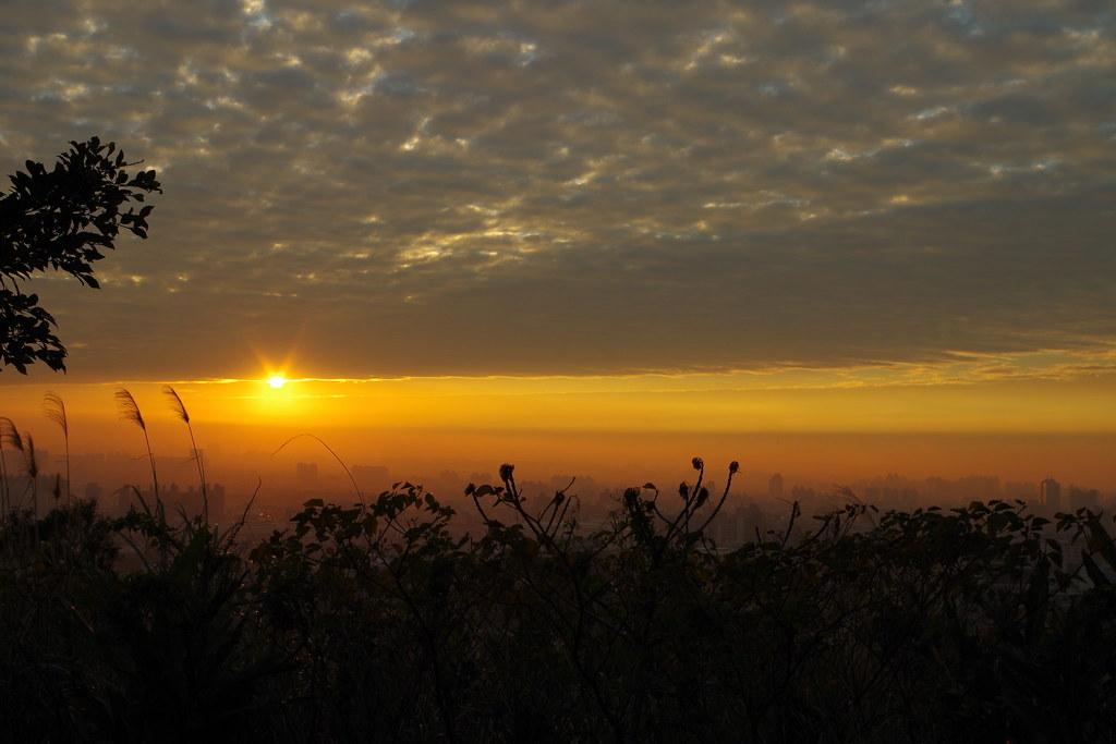 巧遇,夕陽美景
