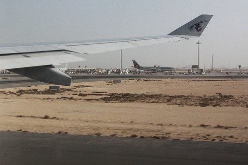 Takeoff from Doha International Airport