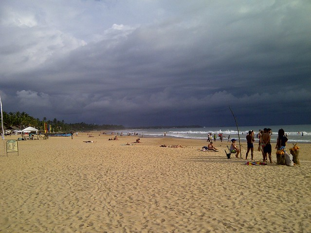 Hikkaduwa beach - thunderstorm approaching