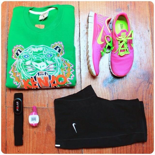 Sudadera verde kenzo tigre