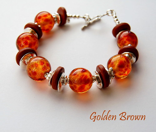 Golden Brown Bracelet by gemwaithnia