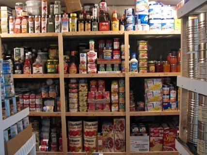 canned emergency food storage
