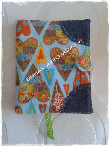 bloco de notas com corações by Linhas Arrojadas Atelier de Costura ® Trademark