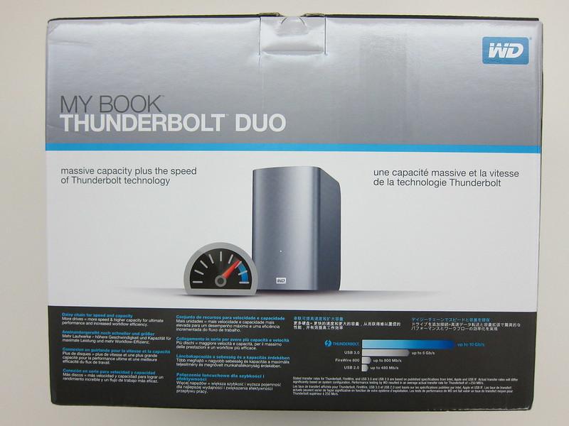 Western Digital My Book Thunderbolt Duo - Box Back