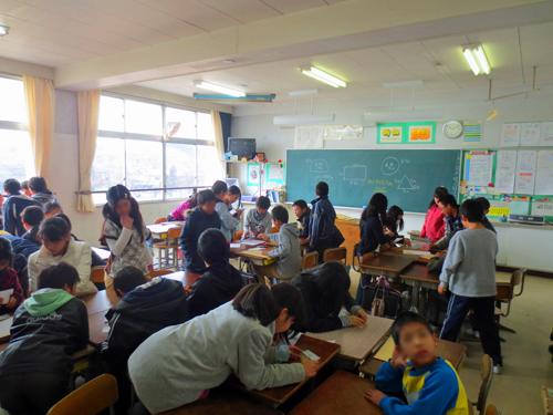 瀬戸キャリア教育 貿易ゲーム 下品野小学校