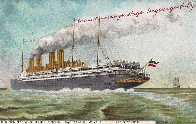 SS Kronprinzessin Cecilie, Cruise Ship, Ocean Liner