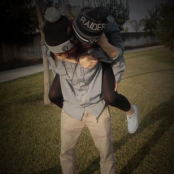 #raiders #cute #couple #young #love #tumblr #denim tops ...