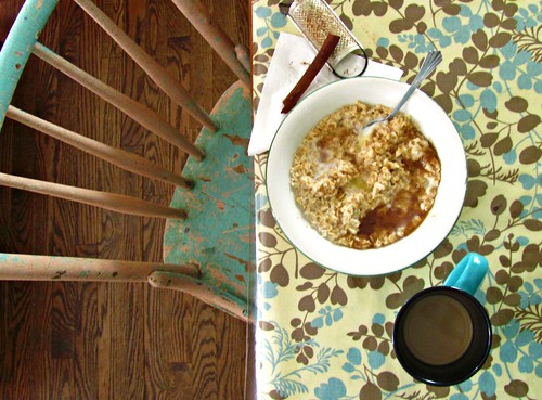 2 12 circle oatmeal coffee by Stephanie Distler
