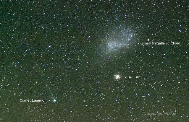 Comet Lemmon and SMC, 13 Feb 2013