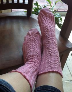 Michael's Pink Socks