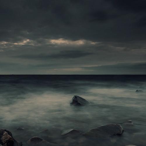 [フリー画像素材] 自然風景, 海, 暗雲 ID:201302231600