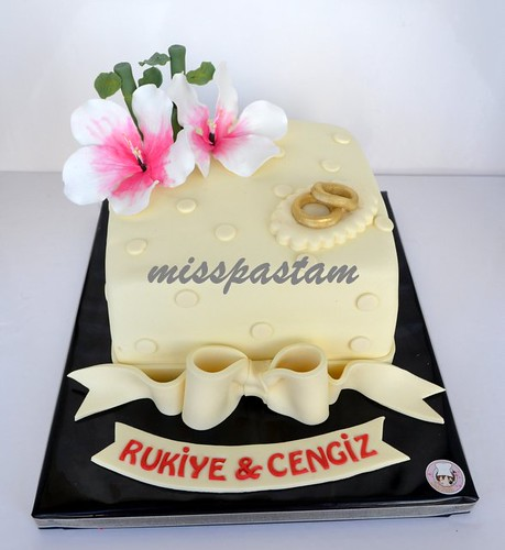 wedding cake by MİSSPASTAM