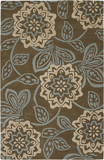 Contemporary Rugs Rowsyn Brown and Cream | by mattwalker69