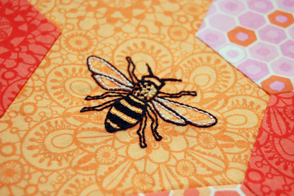 Honeycomb Stitch-Along Embroidery Detail