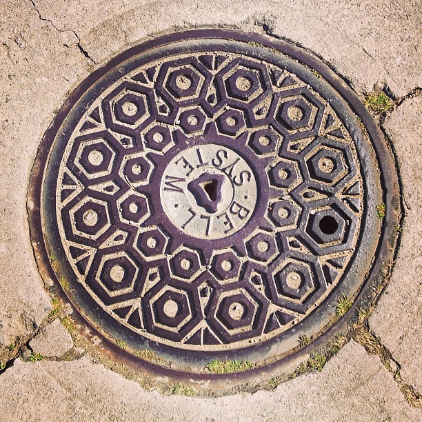 How come I never noticed how pretty LA's manhole covers are?