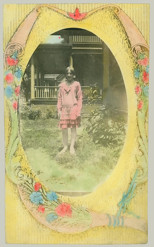 girl in yard