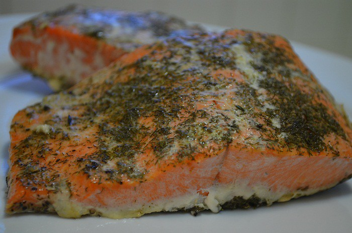 Baked Salmon with Dill & Thyme | My Halal Kitchen