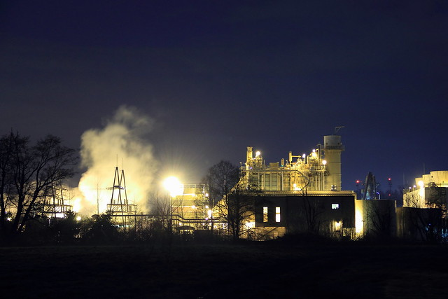 Factory at Night