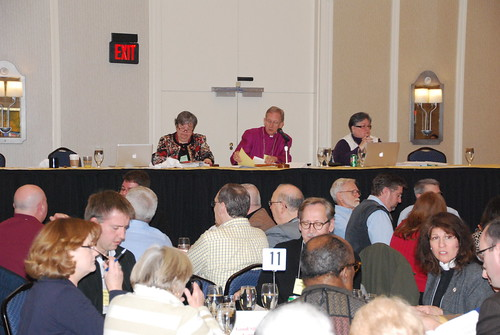 <p>Bishop Hahn led the convention through some sticky procedural issues.</p>