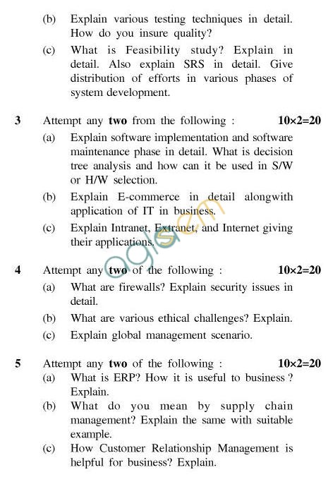 UPTU B.Tech Question Papers - CS-601-Information System
