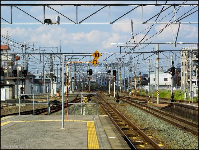 Nagoya-Bound Platform at JR Okazaki