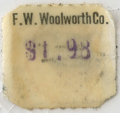 F.W. Woolworth Price Sticker