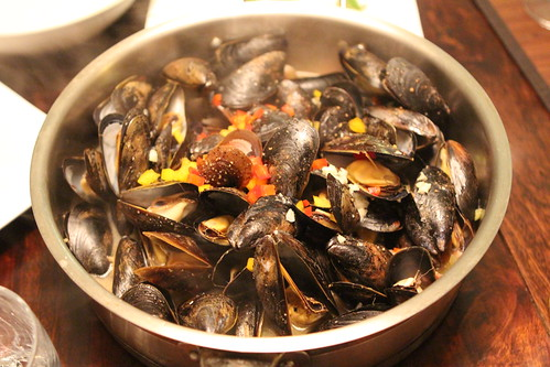 Mussels with Bacon and Ale