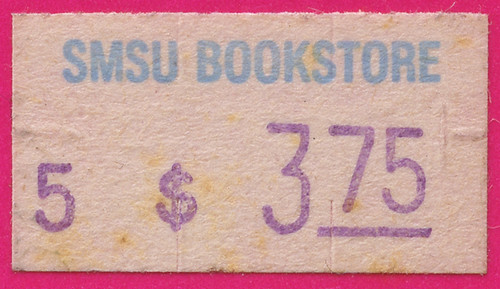 SMSU Bookstore Price Sticker