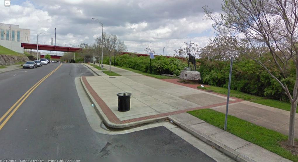 Timothy Demonbreun Statue Google Street View