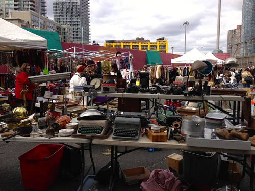 Flea market at New York