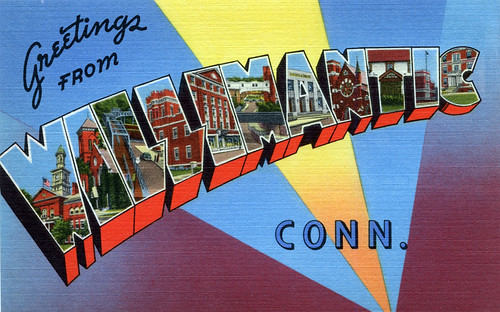 Greetings from Willimantic, Connecticut - Large Letter Postcard by Shook Photos