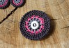 Button Circle Brooch
