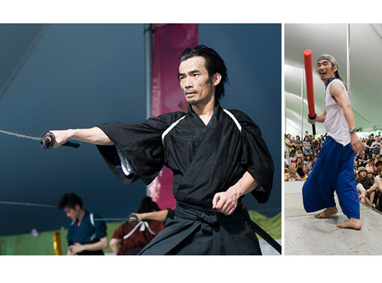Master of ceremonies and samurai sword master Yoshi Amao. Photos by Jason Gardner.