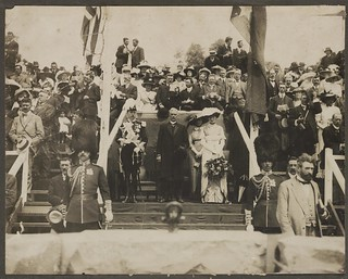 Laying of the foundation stone of the Commencement Column, Canberra, 12th March, 1913 / photographer unknown