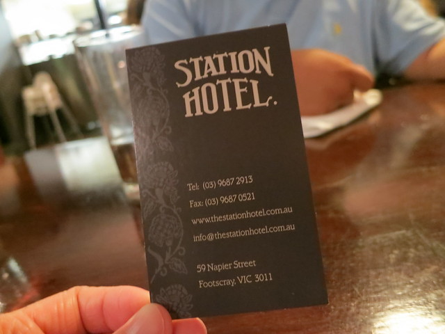 Station Hotel: Business Card