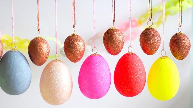 Glittered eggs 2013