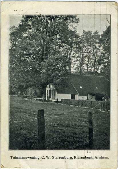 Tuinmanswoning C.W. Scharrenburg, Klarenbeek Arnhem